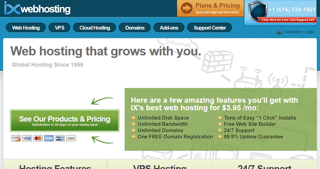 IX Web Hosting Review